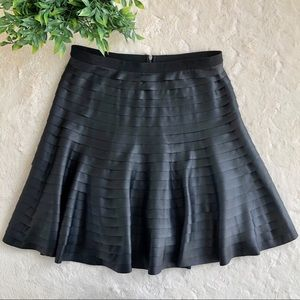 BCBGMAXAZRIA Black faux leather shanina skirt